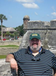 The author in St. Augustine,  Florida, 2014. Photo courtesy of Kyle F. Zelner.