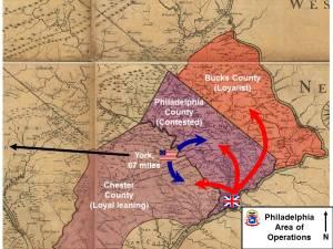 Philadelphia Area of Operation. Image courtesy of the author.
