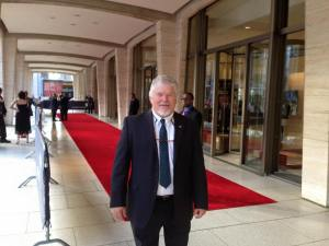 Dr. Andrew Wiest at the 36th Annual Emmy Awards ceremony in New York City, Sept. 28, 2015. Photo courtesy of the author.