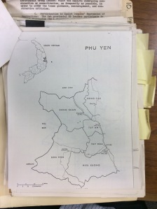 Map of Phu Yen province, U.S. Center of Military History. Image courtesy of the author.