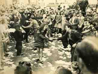 Dancing in London on VE Day